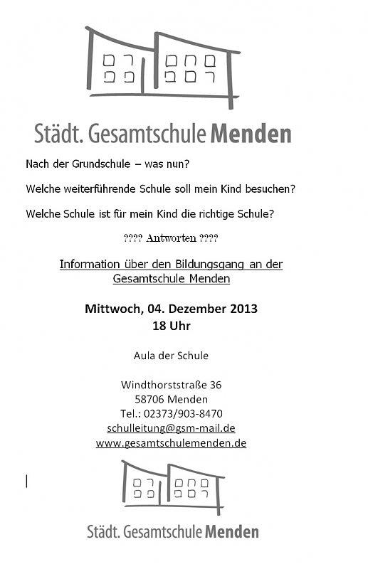 Stadt Gesamtschule Menden